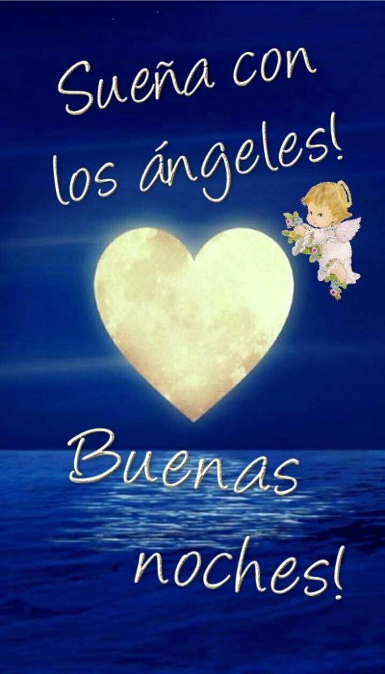 Imágenes de Angeles con Frases Deseando Buenas Noches