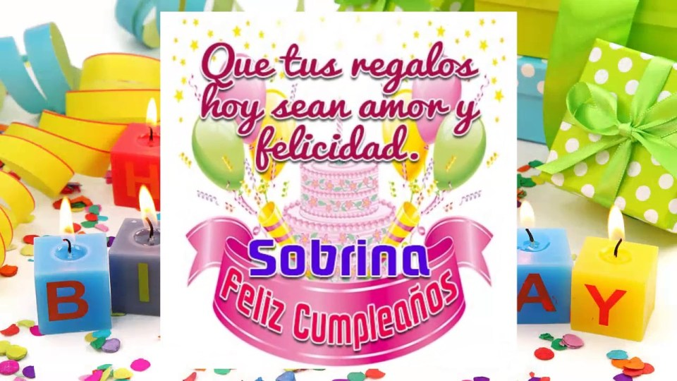 Tarjetas de Cumpleaños Para Una Sobrina Muy Especial