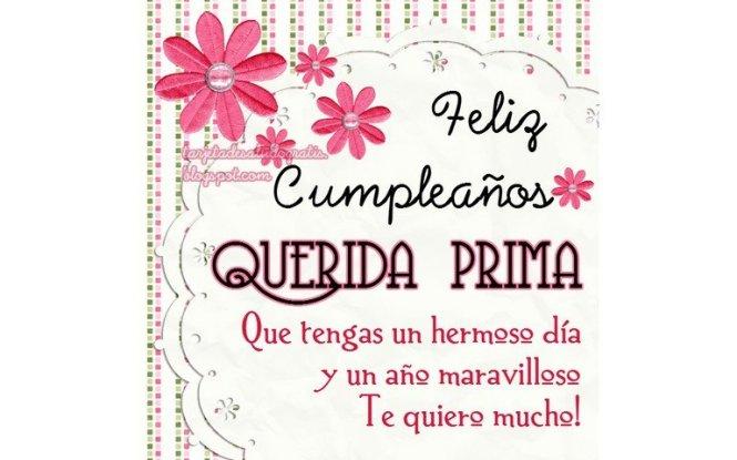 Tarjetas De Feliz Cumpleaños Para Una Prima Hermana