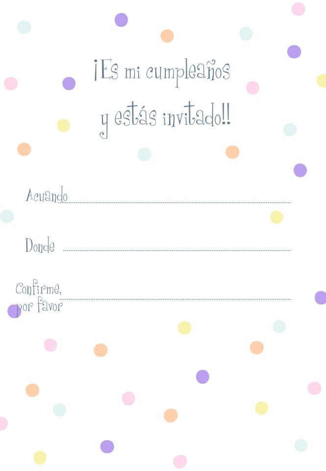 Invitaciones de Cumpleaños Para Imprimir Gratis