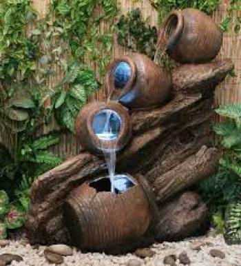 Ideas de fuentes de agua para jardines pequeños