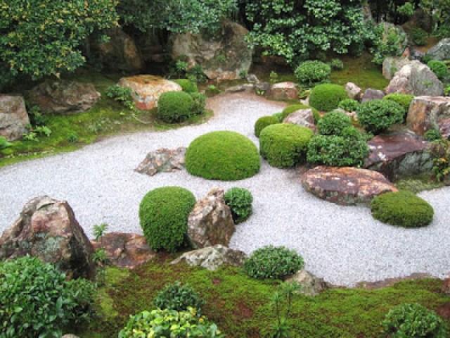 Jardines con efecto zen