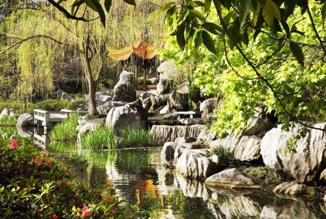 Bonita imagen del jardin chino de la amistad ubicado en Sidney