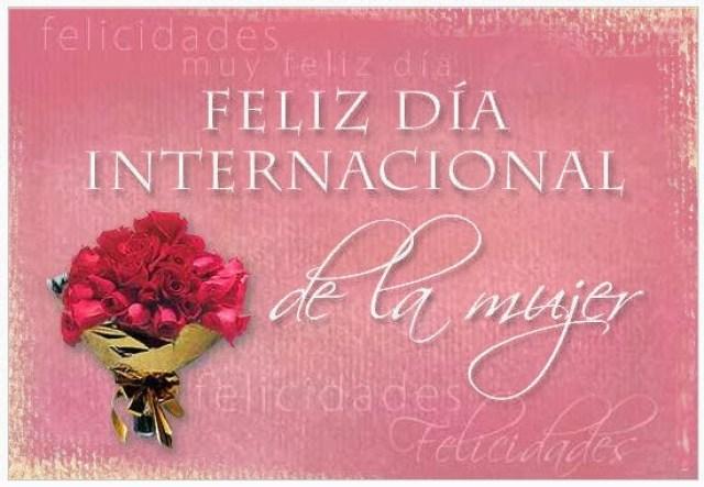 Imagen Ramo de Flores Feliz Dia Internacional De La Mujer