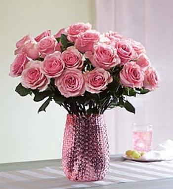 Imagen de ramo de rosas rosadas