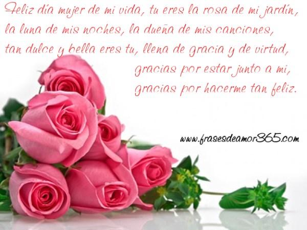 Imagenes de rosas con frases para el dia de la mujer para mi novia