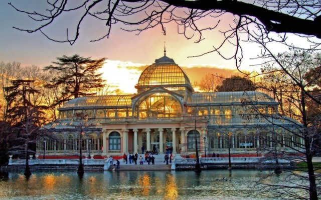 Parque del retiro Madrid Palacio de Cristal