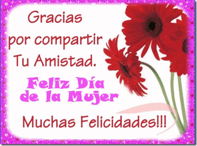 Postales de flores con mensaje para el día de la mujer
