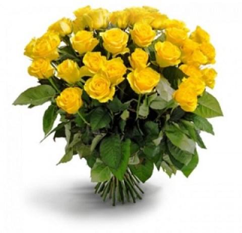 Imagen de un ramo de rosas amarillas