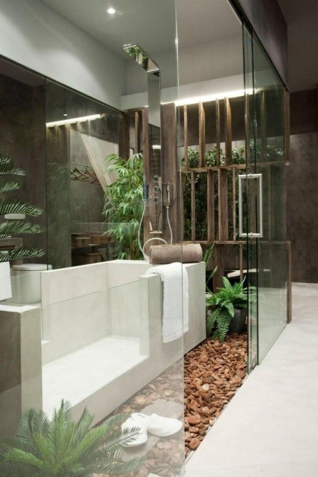 Imagen decoracion de interiores jardin en el baño