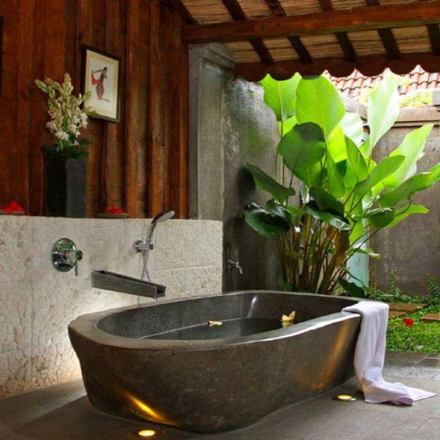 Jardines interiores en el baño