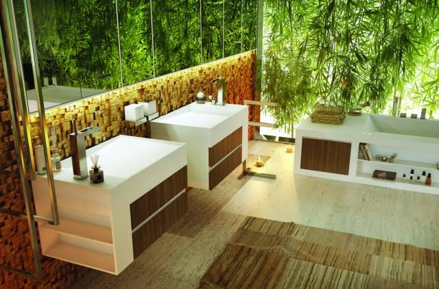 decoracion de jardines interiores en baños