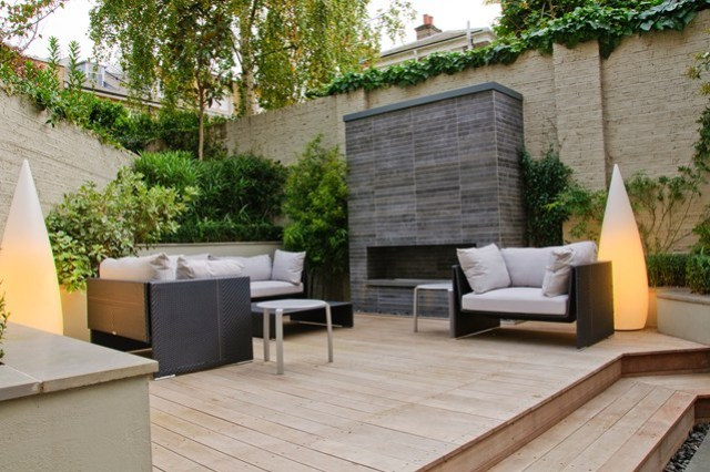 fotos ideas diseño jardines modernos