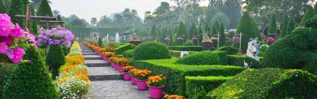 Imagenes del Jardín Tropical en Tailandia Suan Nong Nooch