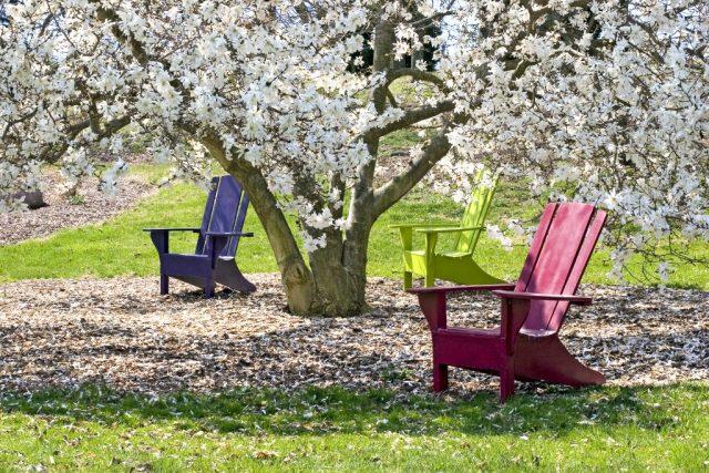 Decoracion del jardin zonas de descanso