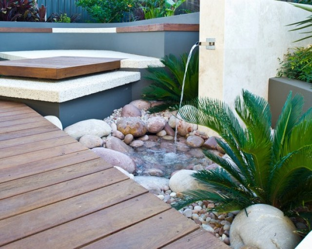 Fuentes de agua en jardines ideas de decoracion