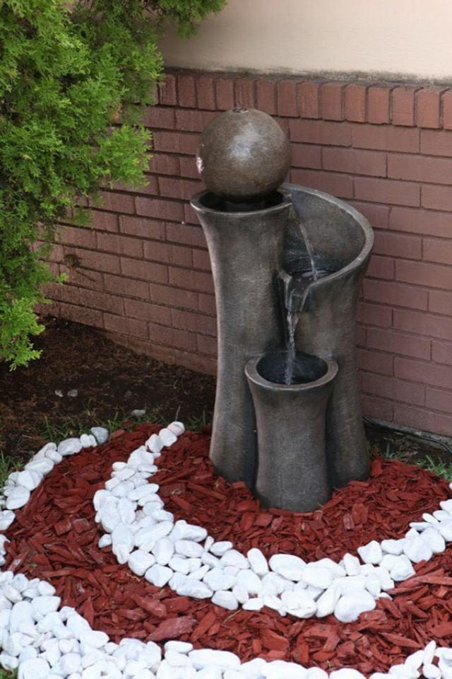 Fuentes para jardines con piedras ideas de decoracion