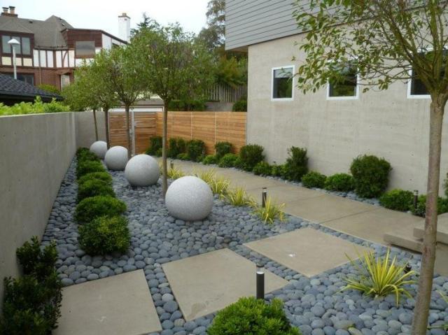 Ideas de decoracion con piedras para crear jardines minimalistas