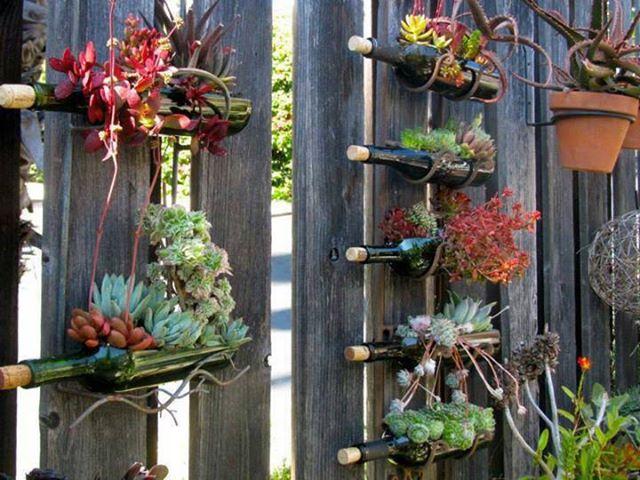 Ideas de decoracion con reciclaje para el jardin