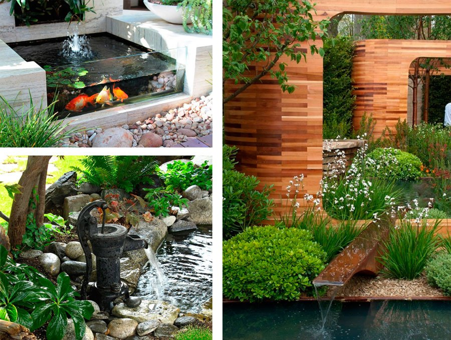 Imagenes con ideas para decorar tu jard n con fuentes de agua for Ideas jardin