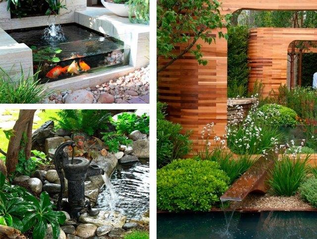 Ideas de decoracion de jardines con fuentes de agua fotos