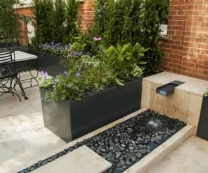 Imagenes Con Ideas Para Decorar Tu Jardín Con Fuentes De Agua