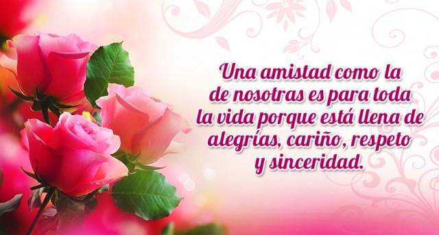 Imagenes bonitas de rosas con frases de amistad