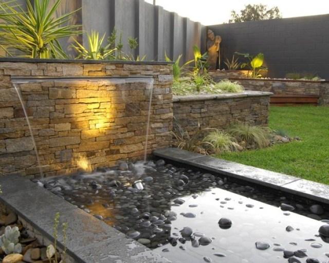 Imagenes con ideas de proyectos para decorar el jardín con agua