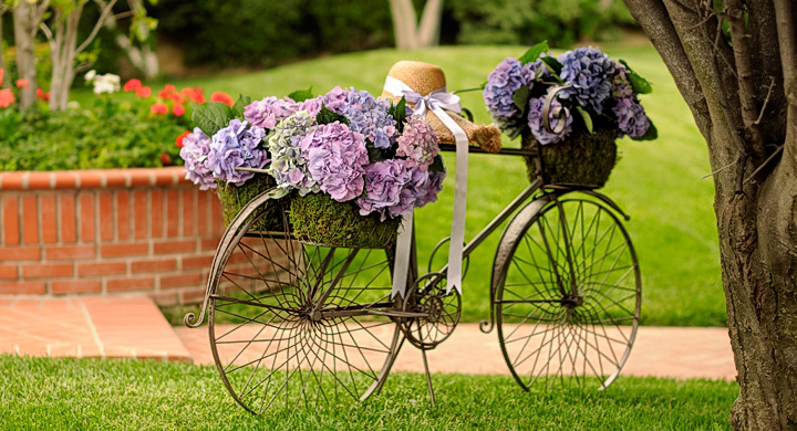 Imagenes con ideas de reciclaje con bicicletas para el jard n - Bicicleta macetero ...