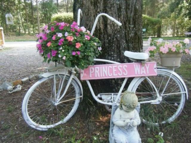 Imagenes de bicicletas antiguos recicladas para el jardin