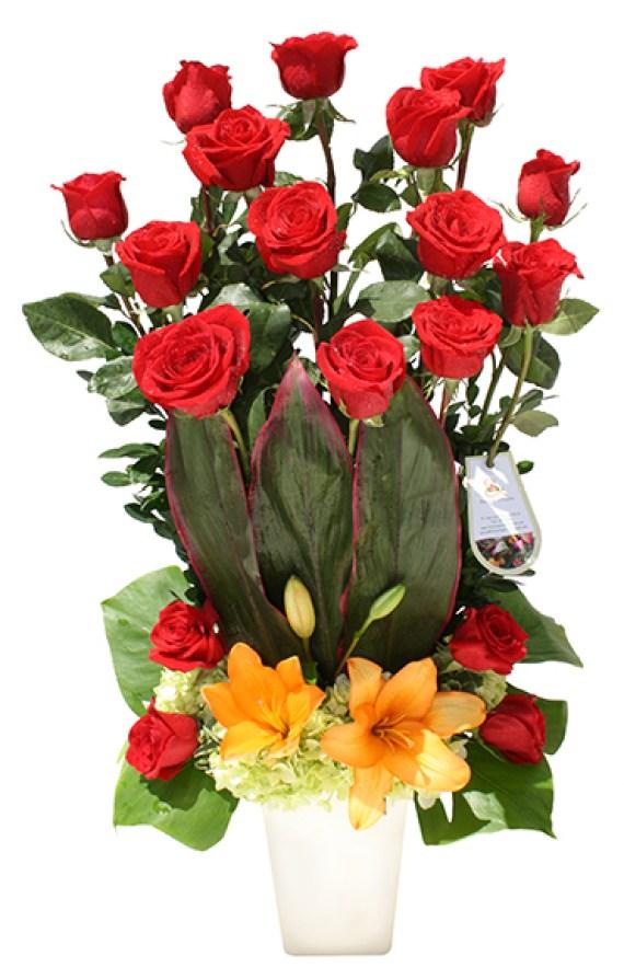 Imagenes de ramos de flores para felicitar por mensaje