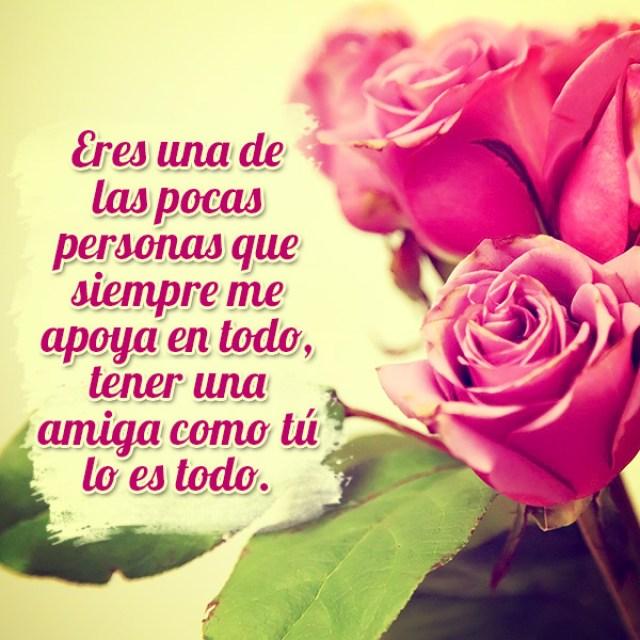 Imagenes de rosas con mensajes bonitos de amistad