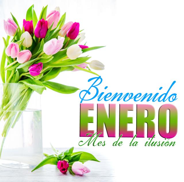 Imagenes bonitas de flores Bienvenido mes de enero para facebook