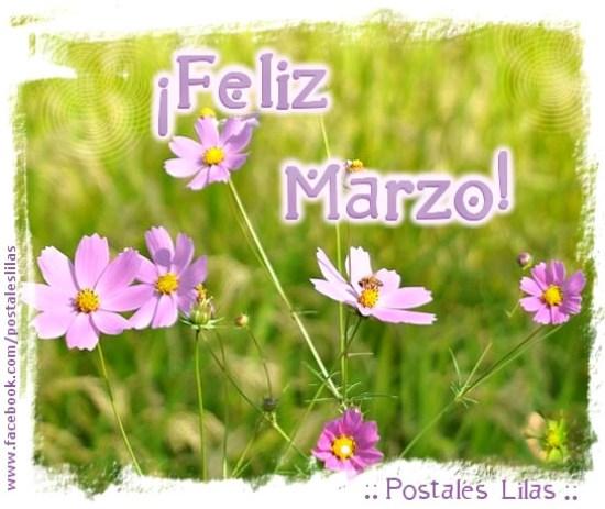 Imagenes de flores feliz marzo para compartir