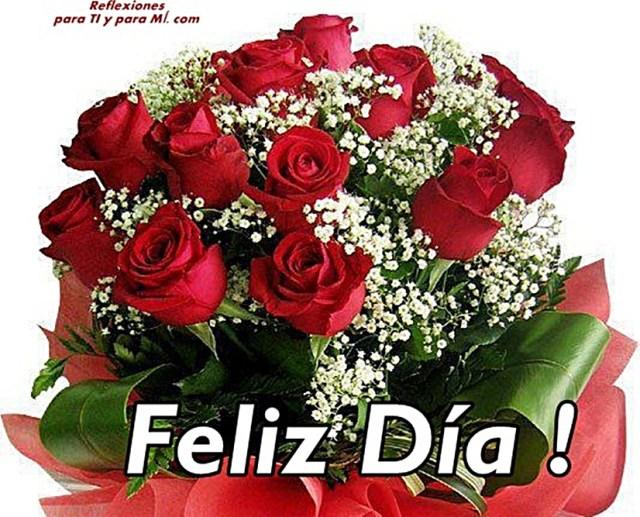 Imagenes de ramos de rosas para desear feliz día por whatsapp