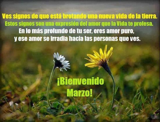 Mensajes para dar la bienvenida al mes de marzo en imagenes de jardines