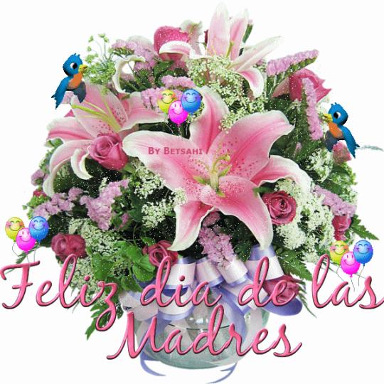 Ramos de flores Feliz Día De La Madre Para WhatsApp