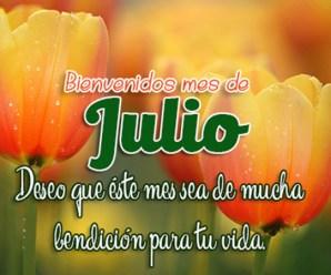 Imagenes de Flores para Facebook Bienvenido Julio