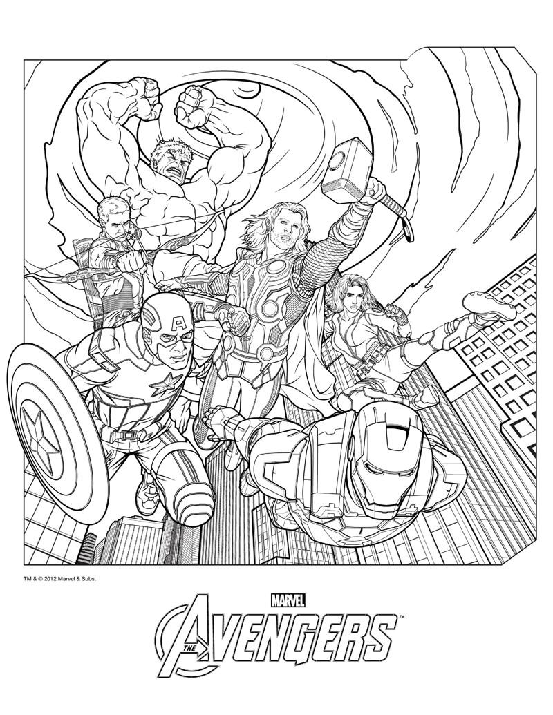 Los mejores dibujos de superheroes para imprimir