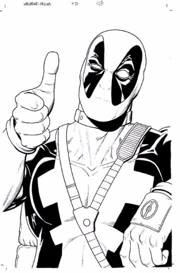 Geniales Imagenes De Deadpool Para Dibujar Y Colorear
