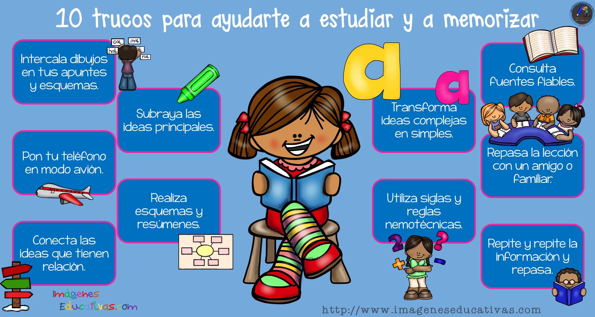 10 Trucos Para Ayudarte A Estudiar Y A Memorizar (1)  Imagenes Educativas
