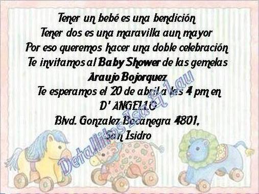 Invitaciones Para Baby Shower De Nina Con Poema