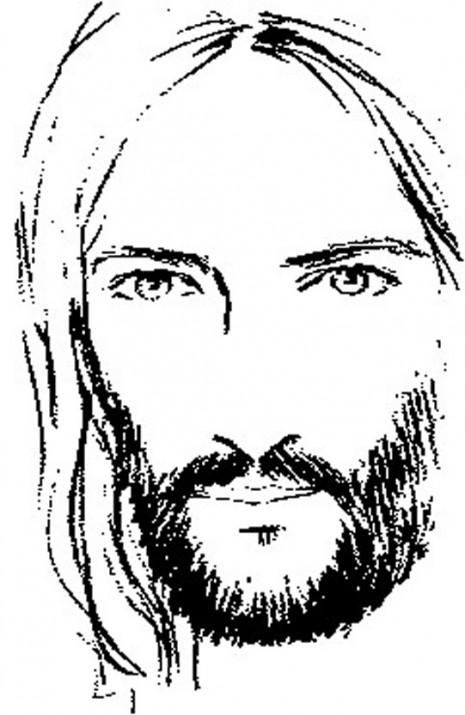 rostro jesus ninos para colorear su para