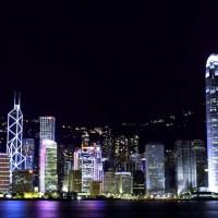 Wallpaper gratis del distrito financiero de Shanghai , de noche, en HD.