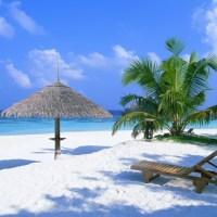 Wallpaper de playa paradisiaca, en HD.