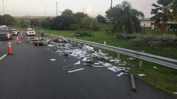 Incidente en la autopista PR 22, justo en la salida hacia el Expreso 18