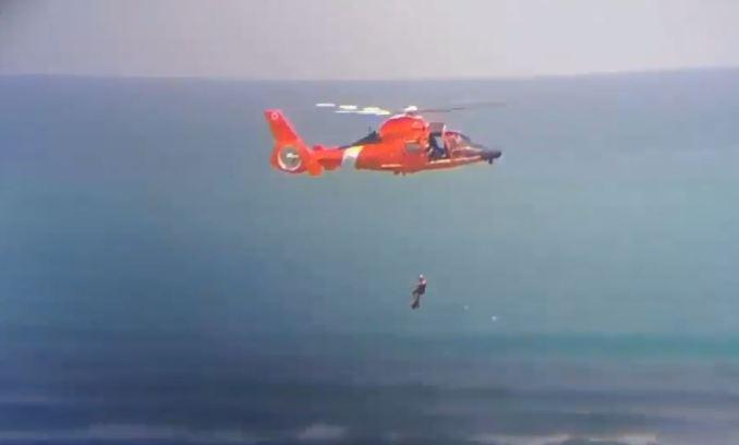 VIDEO: Guardia Costera rescata a una persona