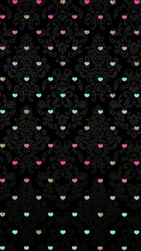 Wallpaper Iphone 5 Cute Purple Im 225 Genes De Fondos Con Corazones De Colores Para Descargar
