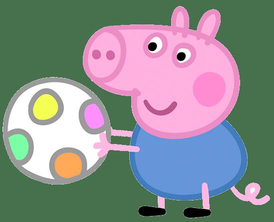 George Pig con pelota