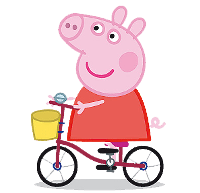 Peppa Pig en Bicicleta